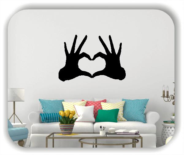 Wandtattoo - Herzform mit Händen