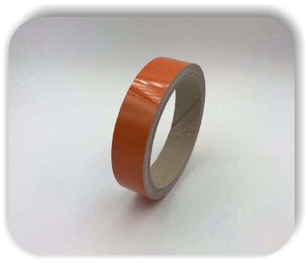 Boots Zierstreifen Reflektierend 50mm Orange Glanz Dekorstreifen