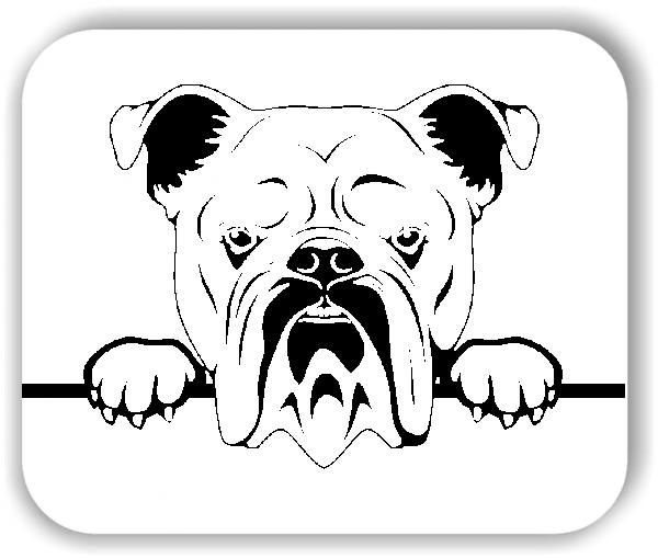 Wandtattoo - Hunde - Englische Bulldogge - ohne Rassename