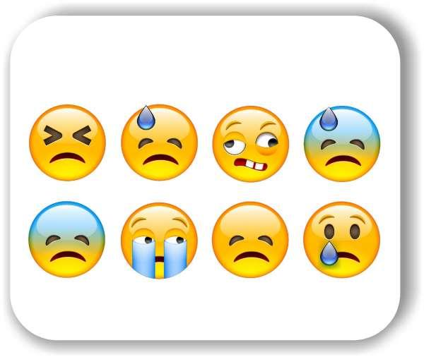 Strichgesicht - 8 verschiedene Motive - Traurige Gesichter