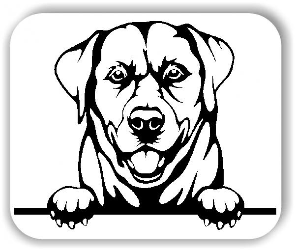 Wandtattoo - Hunde - Labrador - ohne Rassename