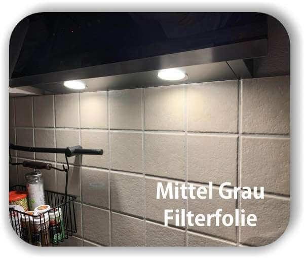 Mittelgrau transparent - Zuschnitt - LED Filterfolie - Warmlicht