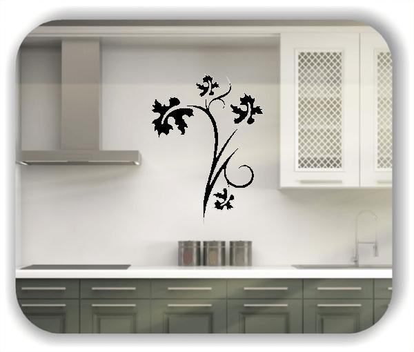 Wandtattoo - Florale Blumen & Blätter - Motiv 2859
