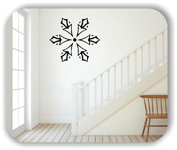 Wandtattoo - Snowflakes - ab 50x43 cm - Motiv 2583