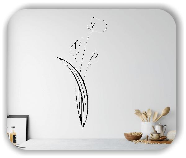 Wandtattoo - Florale Blumen & Blätter - Motiv 2977