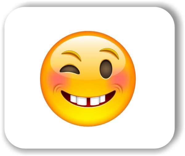 Strichgesicht - Zwinkerndes Gesicht
