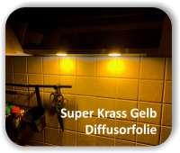 Zuschnitt Super Krass Gelb - LED Diffusorfolie Streufolie - LED Tönungsfolie