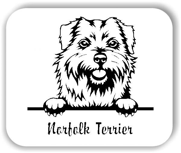 Wandtattoo - Hunde - Norfolk Terrier