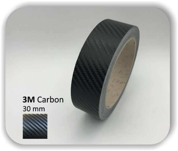 3M Zierstreifen Carbon Wrapping Folie 1080 3D-Folie 30mm für Auto Boot Motorrad