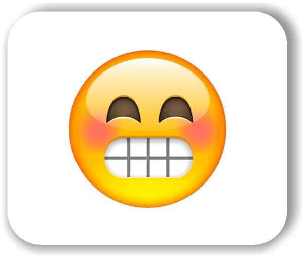 Strichgesicht - Zähne zeigendes Gesicht