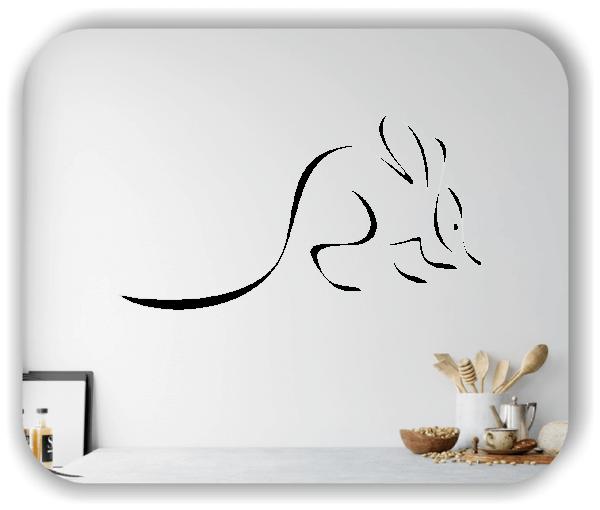 Wandtattoo - Tier Silhouette - ab 50x25 cm - Wolperdinger