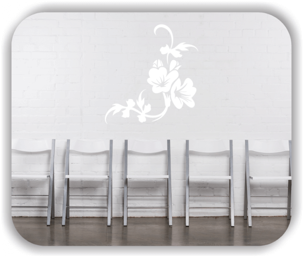 Wandtattoo - Florale Blumen & Blätter - Motiv 2853