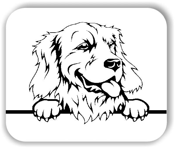 Wandtattoo - Hunde - Golden Retriever Variante 3 - ohne Rassename