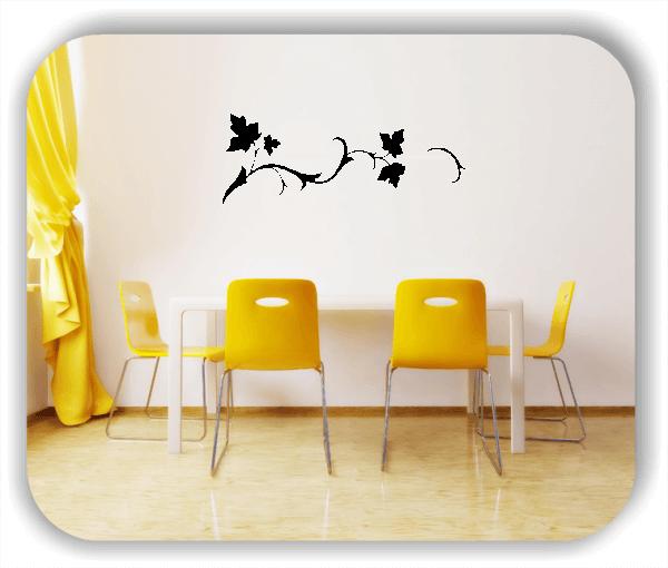 Wandtattoo - Florale Blumen & Blätter - Motiv 2816