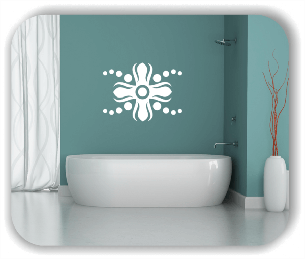 Wandtattoo - Florale Dingbats - ab 70x50 cm - Motiv 4119