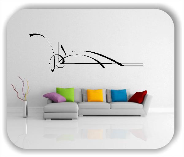 Wandtattoo - Schnörkel Design - ab 60 x 20 cm - Motiv 40