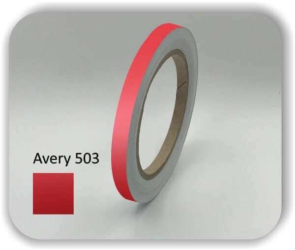 10 mm Zierstreifen für Auto, Motorrad & Boot Farbe: Rot Dekorstreifen