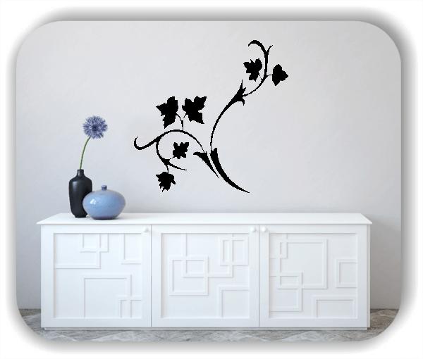 Wandtattoo - Florale Blumen & Blätter - Motiv 2844