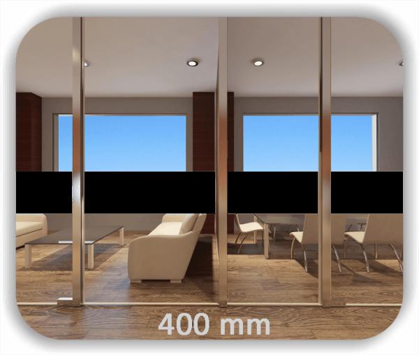 ✅ Durchlaufschutz Folie - Uni Farbig - Höhe: 40 cm - Streifen