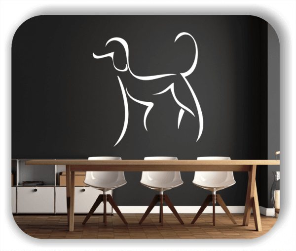 Wandtattoo - Tier Silhouette - ab 50x51 cm - Pudel