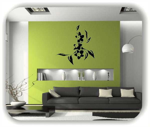Wandtattoo - Florale Blumen & Blätter - Motiv 2852