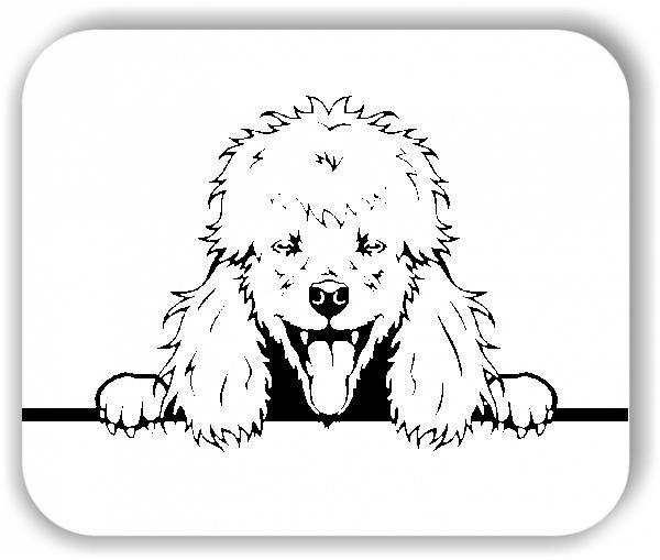Wandtattoo - Hunde - Pudel Variante 3 - ohne Rassename