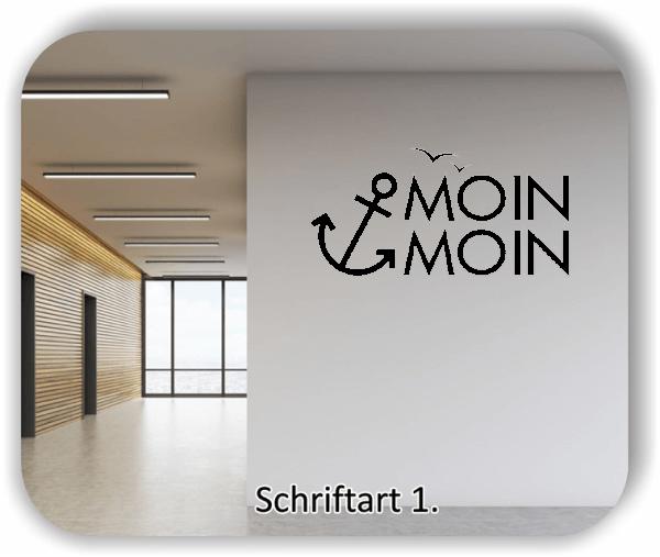 Wandtattoo - Moin Moin