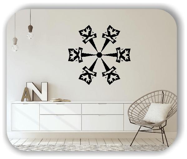 Wandtattoo - Snowflakes - ab 50x48 cm - Motiv 2500