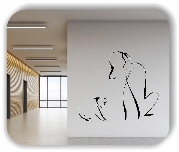 Wandtattoo - Tier Silhouette - ab 50x42 cm - Hund & Katze