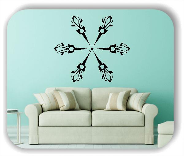 Wandtattoo - Snowflakes - ab 50x43 cm - Motiv 2536