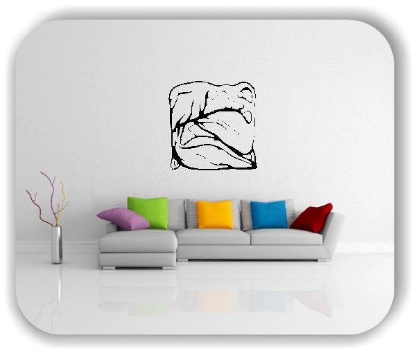 Wandtattoo - Quadratisch Florale Silhouetten - Motiv 35