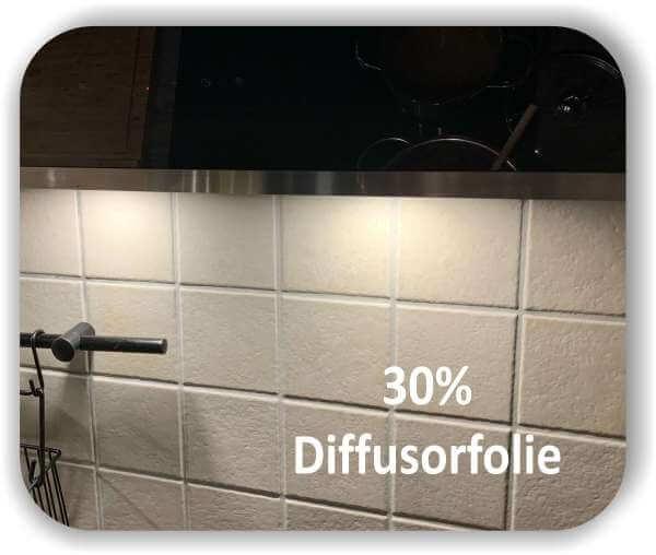 Zuschnitt Diffusorfolie 30% Lichtdurchlässigkeit - LED Filterfolie