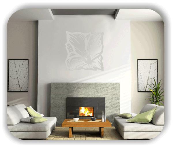 Wandtattoo - Quadratisch Florale Silhouetten - Motiv 32