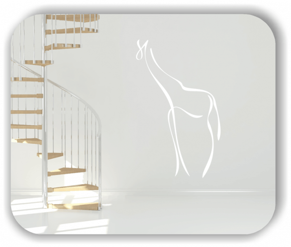 Wandtattoo - Tier Silhouette - ab 50x80 cm - Giraffe