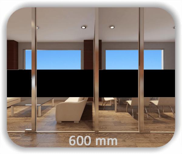 Durchlaufschutz Folie - Uni Farbig - Höhe: 60 cm - Streifen