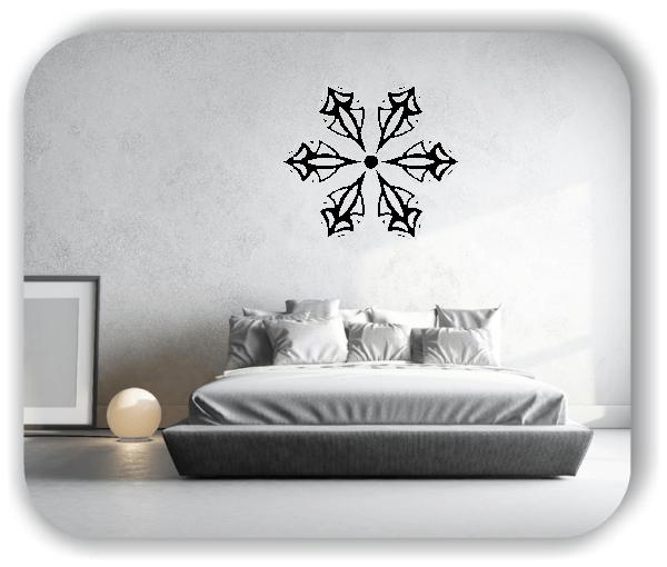 Wandtattoo - Snowflakes - ab 50x43 cm - Motiv 2557