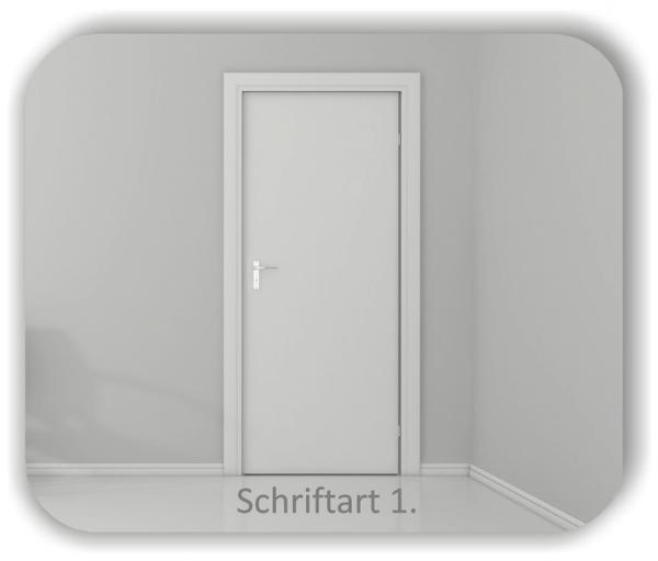 Türbeschriftung - Eingang
