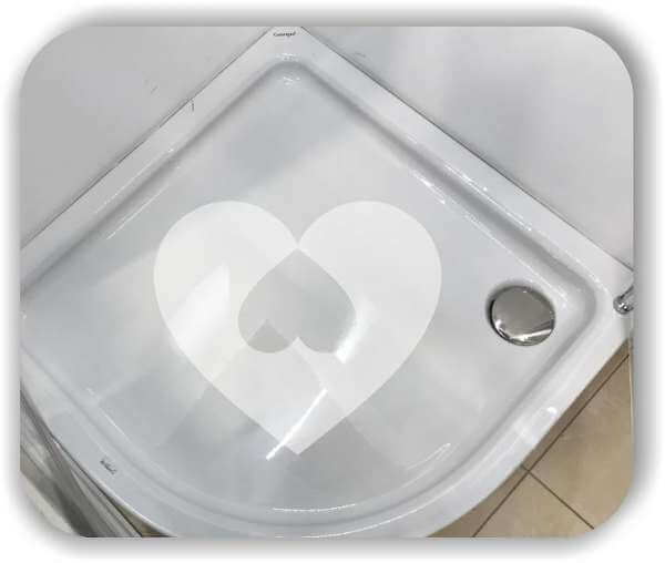 Anti-Rutsch Folie - Herz im Herz - ab 30x26 cm