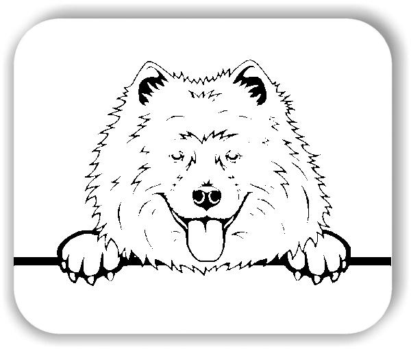 Wandtattoo - Hunde - Samoyed - ohne Rassename