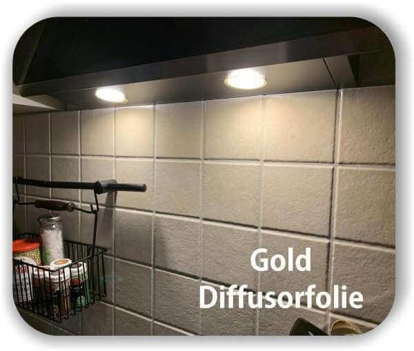 Zuschnitt LED Filterfolie Gold - Diffusorfolie - Warmlicht