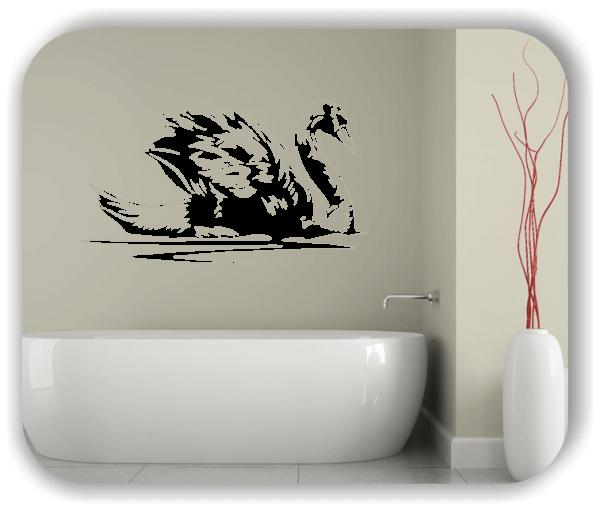 Wandtattoo - ab 50x28 cm - Schwan