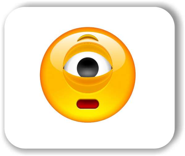 Strichgesicht - Gesicht mit einem Auge