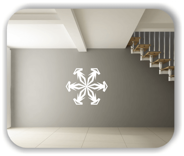 Wandtattoo - Snowflakes - ab 50x43 cm - Motiv 2584