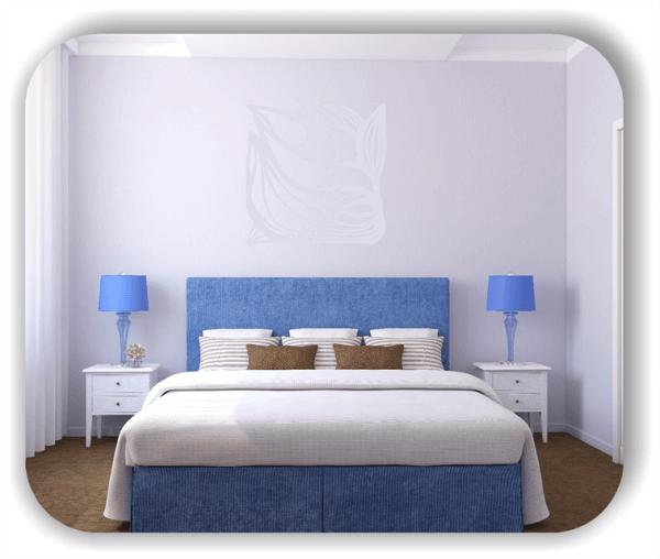 Wandtattoo - Quadratisch Florale Silhouetten - Motiv 19