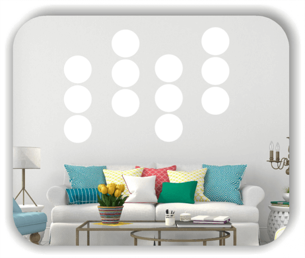 Folien Punkte - Selbstklebend - 54 Punkte a 3 cm