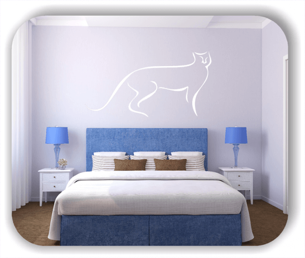 Wandtattoo - Tier Silhouette - ab 50x25 cm - Raubkatze