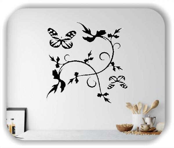 Wandtattoo - China Floral - ab 50x50 cm - Motiv 3158