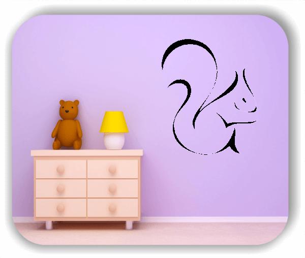 Wandtattoo - Tier Silhouette - ab 50x60 cm - Eichhörnchen
