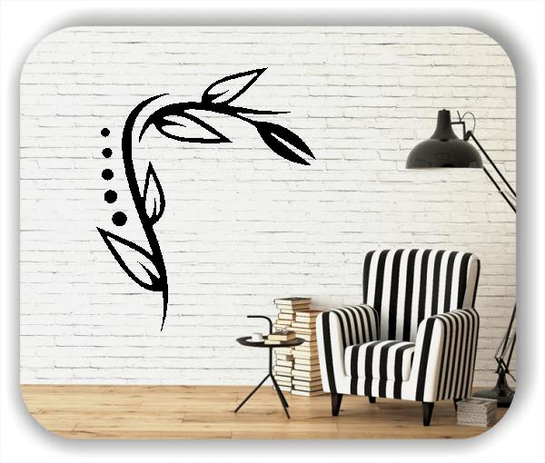Wandtattoo - Florale Blumen & Blätter - Motiv 39