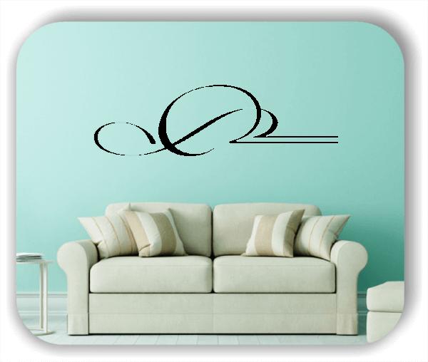 Wandtattoo - Schnörkel Design - ab 60 x 18 cm - Motiv 14